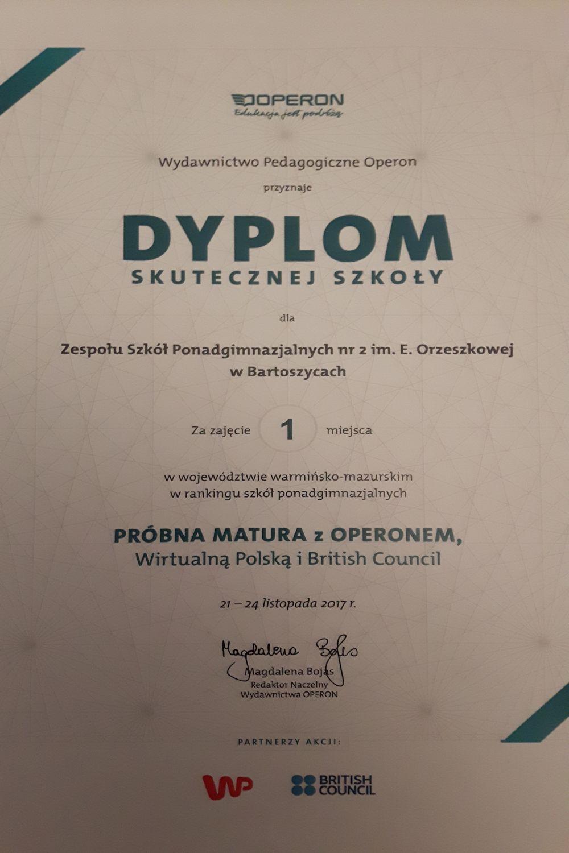 Dyplom skutecznej szkoły